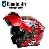 Helmet Casque de Moto modulaire Casque Bluetooth avec Flip D.O.T certifié Anti-buée...