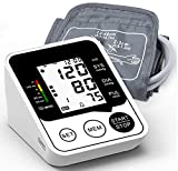 Blood Pressure Monitor, Accurate and Automatic Upper Arm BP Machine, Automatic Heart Rate Pulse Monitor, Digital Meter with Large Display