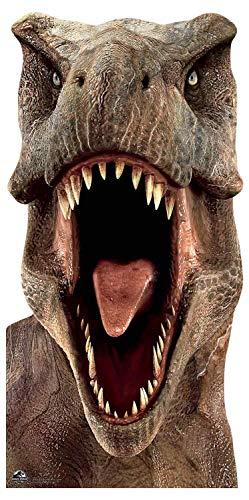 Star Cutouts SC1279 - Dinosaurio oficial de Jurassic World Tyrannosaurus (T-Rex), 188 cm de alto, multicolor