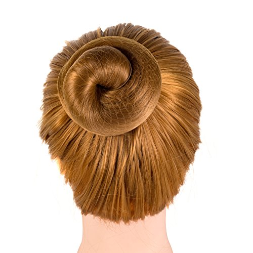 Deoot Lot de 20 filets à cheveux réutilisables avec bords élastiques invisibles pour femmes, filles, chignons de ballet (café clair)