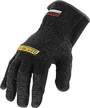 leather gauntlet work gloves