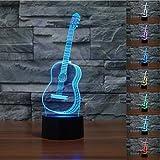 Lámpara 3D, VSOAIR Luces de Noche 3D LED USB Touch con 7 Luces de Escritorio de...