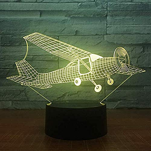 3D Illusion Night Light bluetooth smart Control 7&16M Color Mobile App Led Vision Aircraft Air Plane Table Optical colorful Creative gift