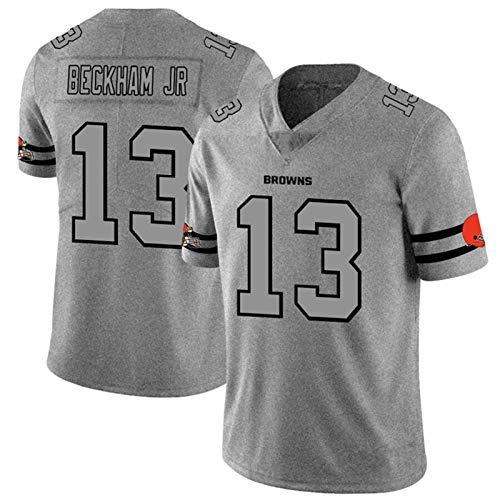 ILHF Beckham JR # 13 American Football Rugby-Trikots Browns 2020 Great to Service Spiel Jersey Atmungsaktive Sports kurzärztlich für Jungen,Grau,XXXL