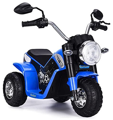 kid go Moto Elettrica per Bambini 6V Baby Blu