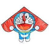 MxZas Cometa for los niños los niños de Doraemon línea de la Cometa Kite Juguetes voladores Accesorio de Nylon Cometa Parapente pájaro Cometa Jzx-n