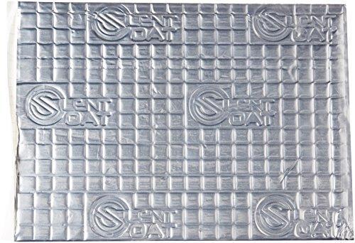 Silent Coat 2mm Alubutyl Dämmmatten Schalldämmmatten Antidröhnmatten 8er Pack selbstklebend