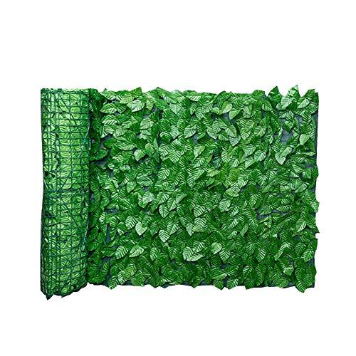 Hoja De Hiedra Artificial Pantalla Paneles De Valla De Privacidad Hoja Artificial Cerca De La Pantalla De Cobertura De Privacidad Rollo Pared Paisaje Jardín Al Aire Libre del Patio Trasero Balcón