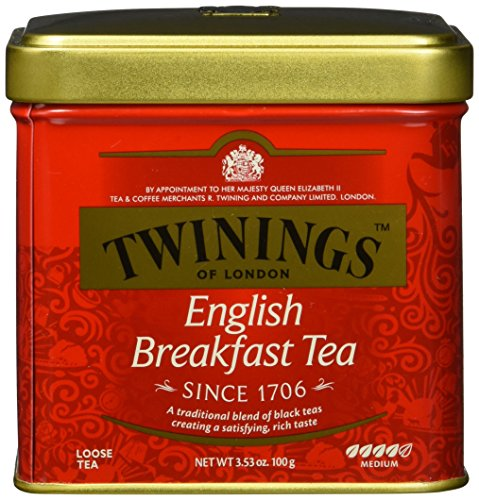 Twinings English Breakfast Tee Dose 100g, Schwarztee ∙ Voller, runder und kräftiger Schwarztee aus den besten Teegärten von Sri Lanka und Indien. Black Tea, 2er Pack (2 x 100 g)