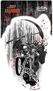 Hot Leathers - Grim Reaper on Motorcycle - Sticker / Decal