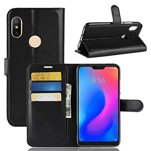 Capa Capinha Carteira Flip Wallet Case 360 Xiaomi Redmi Note 6 e 6 Pro Tela 6.26Couro Sintético Pronta Entrega (Preto)