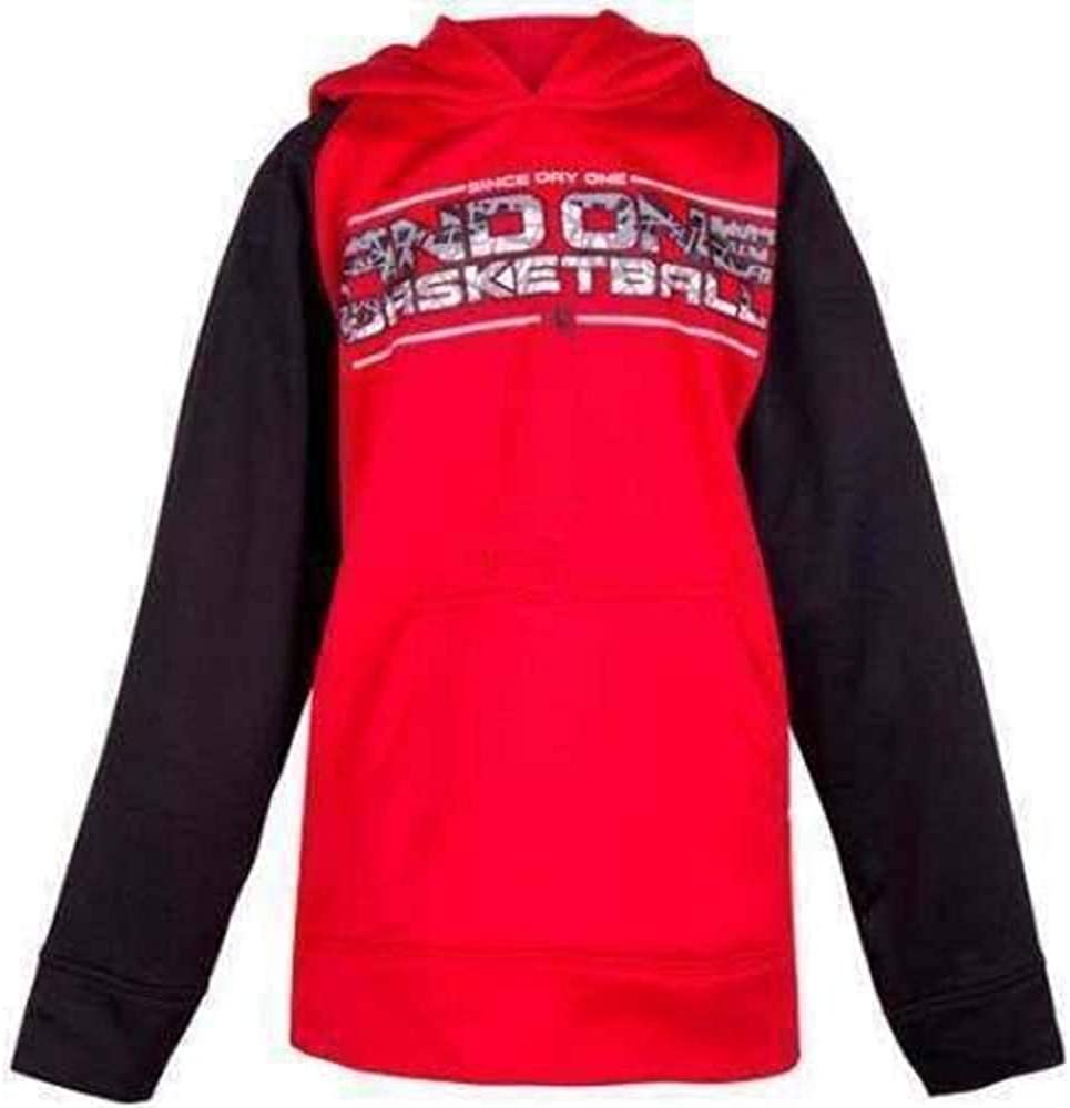 AND1 Boys Red & Black Basketball Long Sleeve Pullover Hoodie Shirt