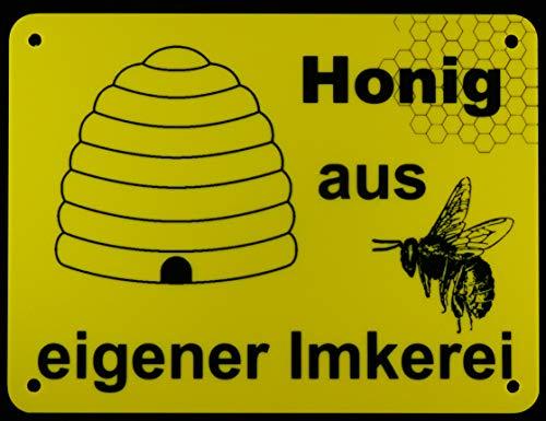 Honig aus eigener Imkerei | Hinweisschild | Gebot | Beschilderung | 15x20 | Biene | Werbung