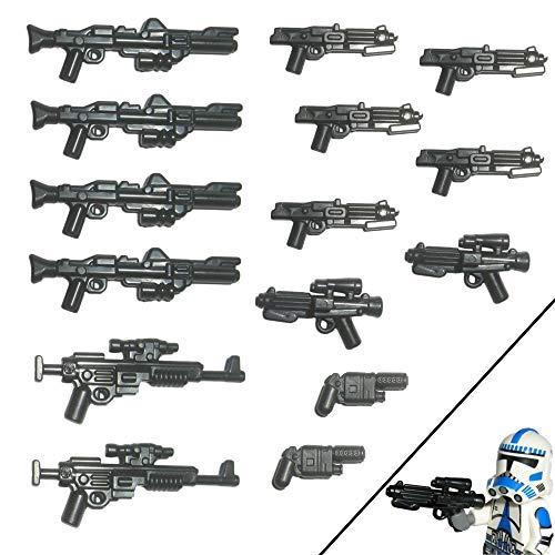 15x Custom Blaster Waffen für Lego Star Wars Figuren