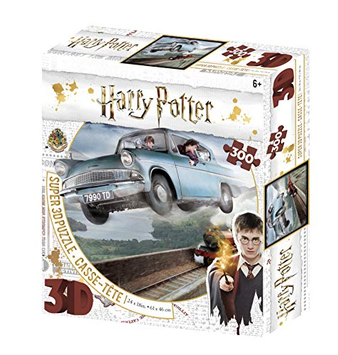 Harry Potter Ford Anglia 300 pcs 3D Effect Puzzle Ronald Weasley, HP32507, Multicolore