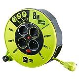 Masterplug CMF08164SL-PX - Enrollacable color Verde