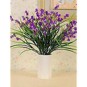 HUAHUA Artificial Flowers, Fashion Bouquets,Plastic Silk Cloth Simulation Iris Flower