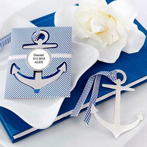 Disok-Segnalibro a forma di ancora da marinaio; Ideale come bomboniera per la Prima Comunione