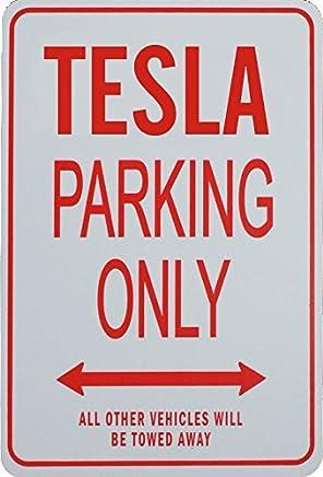 Tesla Parking Only - Miniature Fun Parking Sign