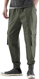 Men Solid Sport Long Pants, Male Spring Antumn Fashion Retro Multi-pocket Casual Pants Trousers