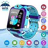 Kids Smart Watch,Childrens Smartwatch for Kids Boys,Waterproof LBS Tracker Watch HD Touch Screen Sport Smartwatch Phone Watch with SOS Call Camera Game Alarm for Children Teen Students,Blue