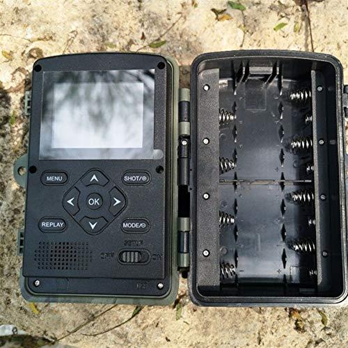 Kuangqianwi Jachtcamera HC 801A jachtcamera 16 MP 32 GB / 64 GB trail camera IP65 val activeringstijd 940 nm wildcamera 1080p waterdicht