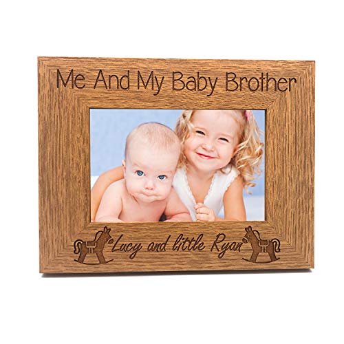 ukgiftstoreonline Personalised Me and My Baby Brother Engraved Photo Frame...