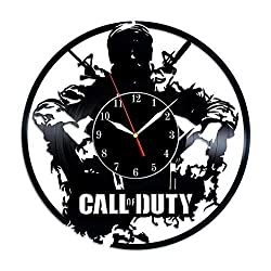 Art Finder Call of Duty Gifts Vinyl Record Wall Clock - Get Unique Bedroom or livingroom Wall Decor - Gift Ideas for Boys and Girls Perfect Element of The Interior Handmade Gift