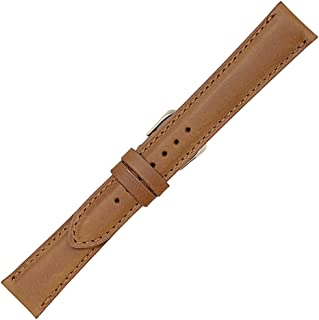 Made in The USA - Vintage Naturally Distressed Genuine Leather - Padded Stitched Watch Strap Band - American Factory Direct - Gold and Silver Buckles Included - Real Leather Creations