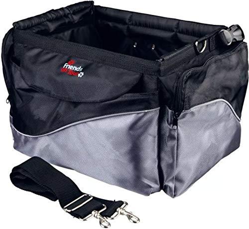 Trixie Front-Box Deluxe Voor Fiets - Fietsmand - 41cm x 26cm x 26cm - Zwart/Grijs