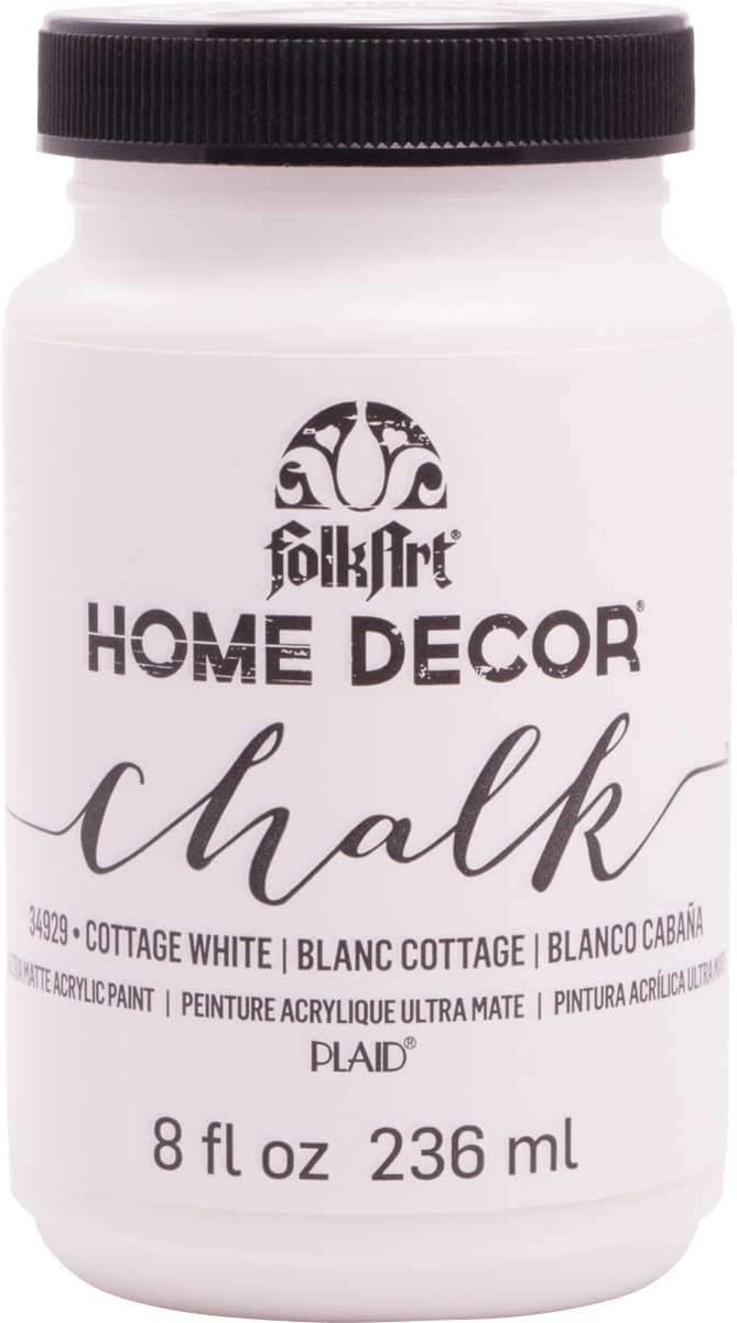 FolkArt Home Decor Chalk Furniture & Craft Paint in Assorted Colors, 8 ounce, Cottage White