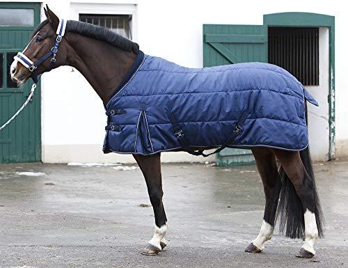 PFIFF 101672 Pferde Stall Decke Orlando,  Winterdecke Pferdedecke Stalldecke, Blau 145 cm