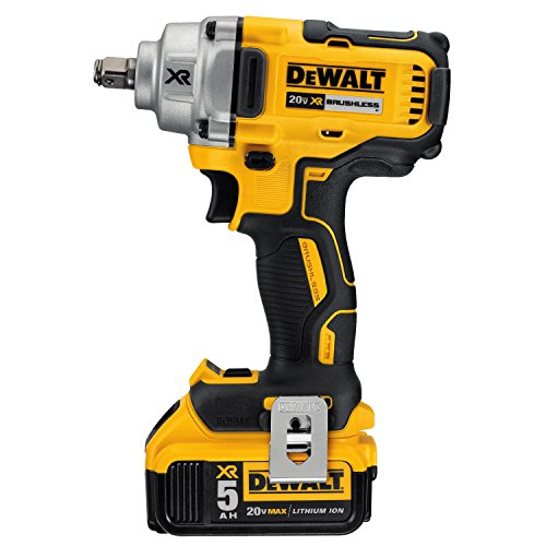 DEWALT 20V MAX XR Impact Wrench Kit, Hog Ring Anvil, 1/2-Inch (DCF894HP2)