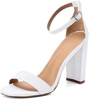 Best white block heel Reviews