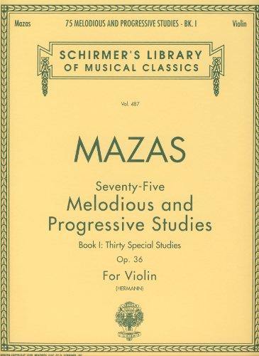 Price comparison product image MAZAS - Estudios Especiales Op.36 Vol.1 para Violin (Hermann)
