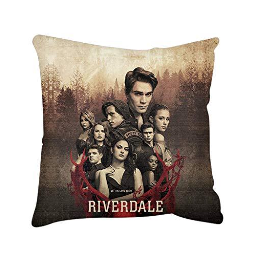 Riverdale Pillow Case Teen Girls Boys Riverdale Pillow Cushion Adults Kids Archie Andrews Veronica Lodge Zippered Pillowcase Riverdale Merchandise Halloween Pillow Cover 44 x 44 cm (23)