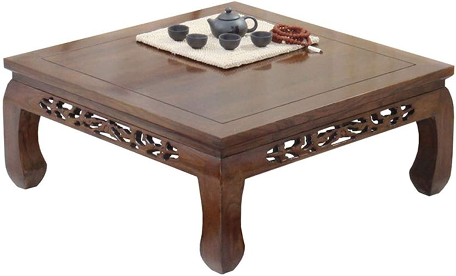 Coffee Tables Coffee Table Square Solid Wood Table Balcony Carved Small Coffee Table Bay Window Small Desk Japanese Tatami Coffee Table Living Room Brown Modern Coffee Table