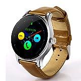 Heomeyb K88H Bluetooth Smart Watch MTK2502 Sprachsteuerung Smartwatch Die wasserdichte Smart Clock Mit Leistungsstarkem Batterie-Schrittzähler,F