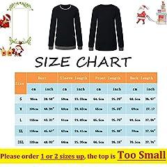 iChunhua Women Tunic Tops Cotton Winter Plain Long Sweatshirt Oversized Jumper Black-S2 L #4