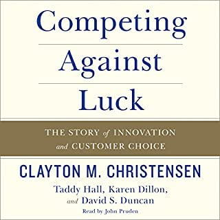 Competing Against Luck audiobook cover art