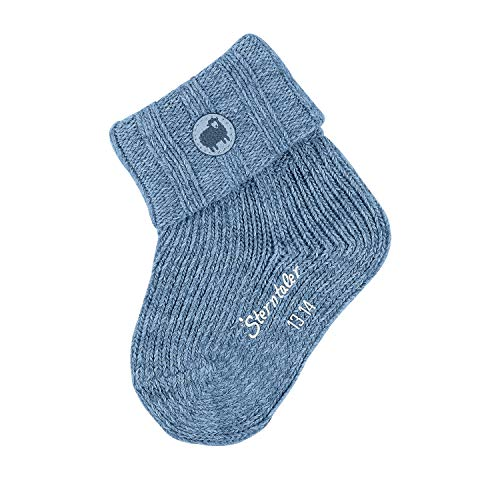 Sterntaler Baby-Boys Overall Socks, Mittelblau Mel, 18