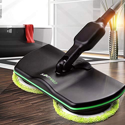 MYJZY Spin Mop eléctrico sin Cable, Depurador de Piso, Robot de Limpieza...