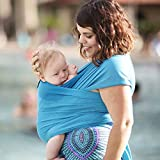 Beachfront Baby Wrap - Versatile Water & Warm Weather Baby Carrier | Made in USA with Safety Tested Fabric, CPSIA & ASTM Compliant | Lightweight, Quick Dry (Caribbean Blue, One Size)