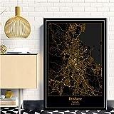 QYQMYK Leinwand Bilder,Brisbane, Australien Stadtkarte