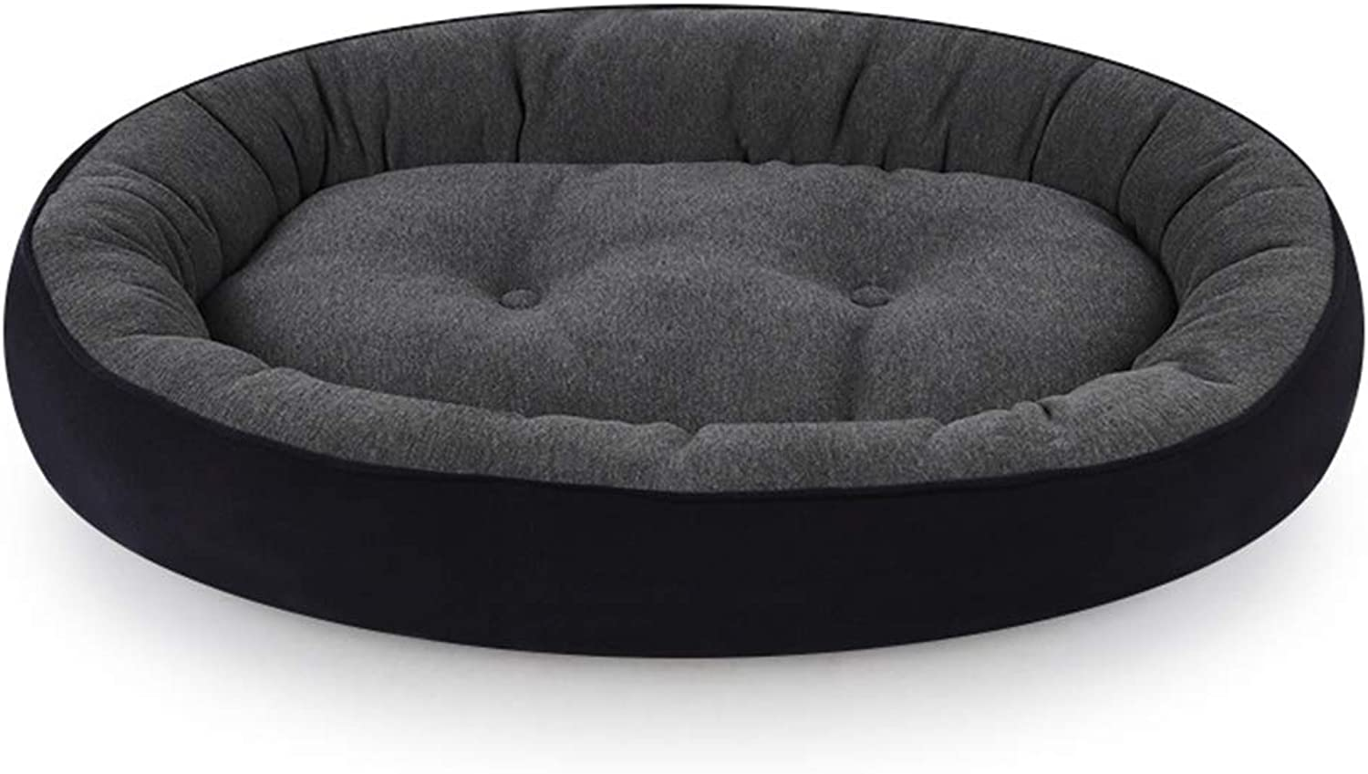 QZX Plush Pet Bed Dog Bed PP cotton padding Three modes Suitable for medium and large dogs Multipurpose oval pet bed Soft Comfy Washable Dog Bed