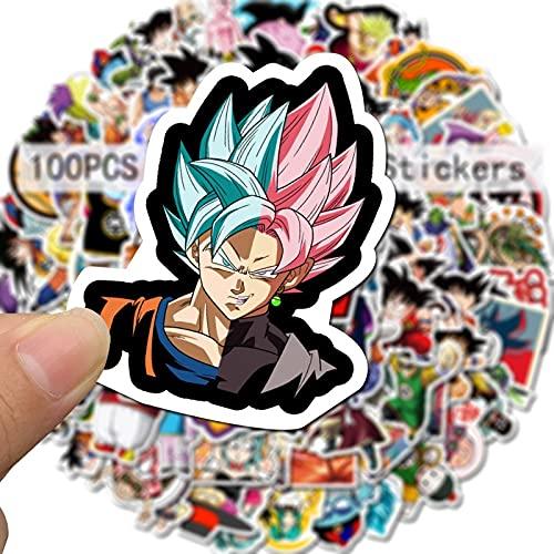 Dragon Ball Anime Pegatinas Pack Maleta Monopatín Portátil Pegatinas Scrapbooking Para Niños Dibujos Animados Graffiti Sticker 100pcs