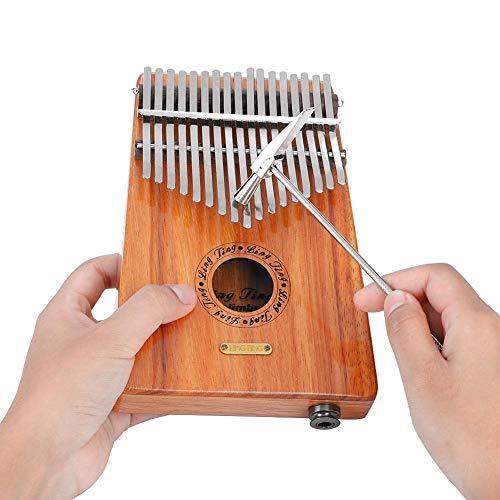 聆聞 17キーカリンバ 指ピアノ 木製 18cm*13cm*4cm (ハンマー/ビブラートチェーン/サムピック/音階ステッカー/クリーニングワイプ/マニュアル/収納バッグ付き)