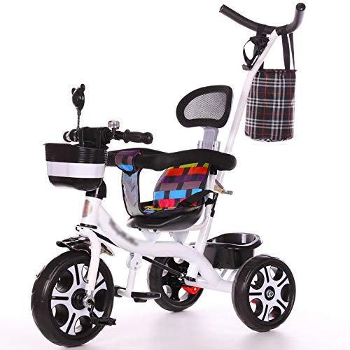 Find Bargain LQRYJDZ Baby Carriage Lightweight Children's Tricycle Boys and Girls Bicycles Baby Stro...