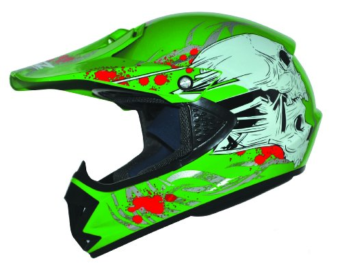 Kids Pro Kinder Crosshelm Grün Größe: XS 53-54cm Kinderhelm Kinder Cross BMX MX Enduro Helm
