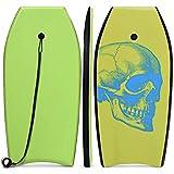 COSTWAY Bodyboard, Schwimmbrett Schwimmboard, Surfbrett Kinder und Erwachsene, Surfboard, Sup-Board 104x51x6cm (Grün und blau)